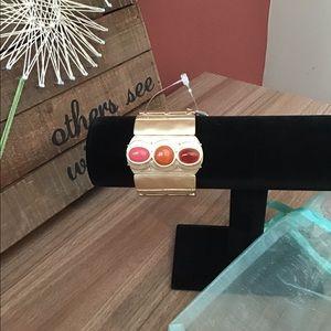 NWT Chico's multi stretched cuff bracelet